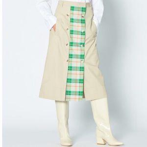 Tibi Hani Plaid Skirt